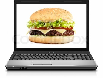 burger and computer