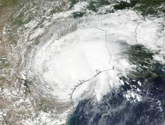 Harvey from space